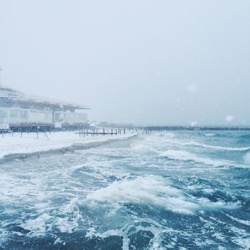 Sea and snowfall - Kostenloses image #183941