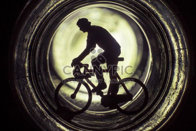 Bicycle toy silhouette - image gratuit #183981