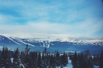 Winter landscape with mountains, Siberia - Kostenloses image #183991