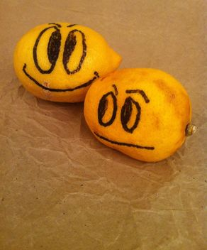 #lemon #fruit #yellow #ripe #face #smiley #smile #sad #happy #unhappy #citrus - Free image #185731