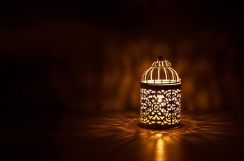 Lantern with candle inside - image #186181 gratis