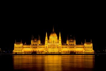 Budapest parliament at night - Kostenloses image #186231