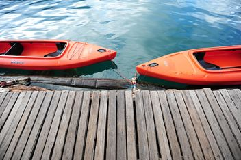 two red boats - image #186491 gratis