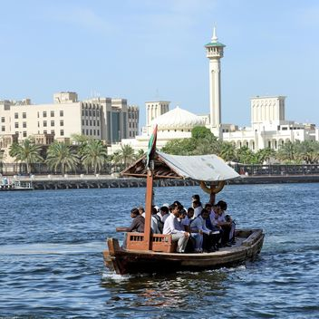 People in water-bus, Dubai - image #186671 gratis