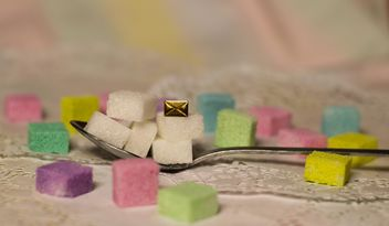 colorful pastel sugar cubes - image #187431 gratis