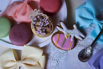 Cookies decorated with ribbons - image gratuit #187551