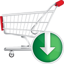 Shopping Cart Down - Kostenloses icon #190671