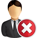 Business User Delete - Free icon #191011