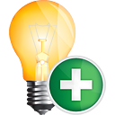 Light Bulb Add - Kostenloses icon #191121