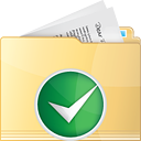 Folder Accept - icon gratuit #191221