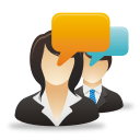 Businesswoman Man Comments - Free icon #192071