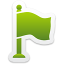 Green Flag - icon #192811 gratis
