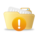 Open Folder Warning - icon gratuit #193011