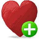 Red Heart Add - Free icon #193121