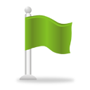 Green Flag - icon #193791 gratis
