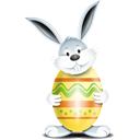 Bunny Egg Yellow - icon gratuit #193871