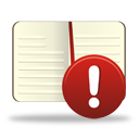 ADVERTENCIA de libro - icon #194271 gratis