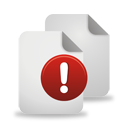 Pages Warning - icon gratuit #194551