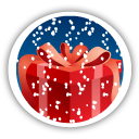 Merry Christmas Gift - icon gratuit #194651