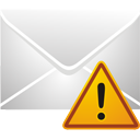 Mail Warning - Kostenloses icon #195481