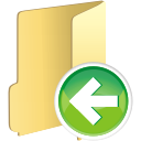 Folder Previous - icon gratuit #196111