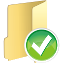 Folder Accept - icon gratuit #197651