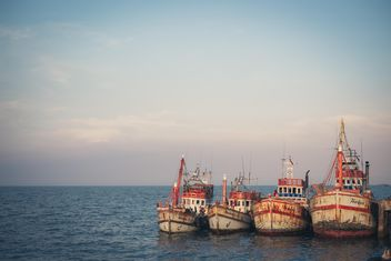 Fisher boats in Hua Hin - Free image #198041