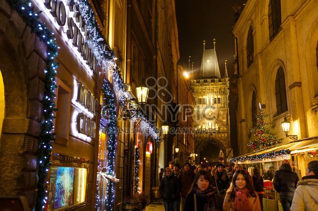 #prague #czech #czechrepublic #europe #architecture #buildings #outdoor #travel #tourism #view #lights #old #cityscape #city #scene #nightshot #night #christmas #xmas #newyear #garlands - бесплатный image #198631