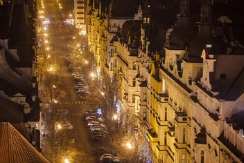view of the street at night - бесплатный image #198651