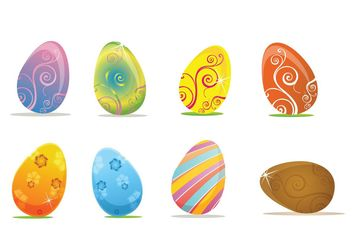 Easter Egg Vectors - Free vector #199061