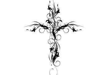 Floral Cross - vector gratuit #199081