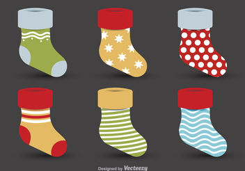Christmas decorative stockings - vector gratuit #199141