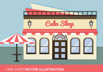 Cake Shop Vector Illustration - Kostenloses vector #199161