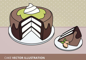 Cake Vector Illustration - vector gratuit #199191