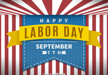 Labor day background - vector gratuit #199231
