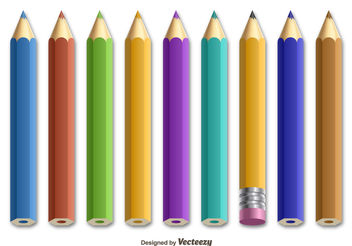 Colorful pencils - vector gratuit #199241
