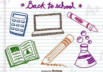 Doodle school elements - Free vector #199251