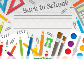 Back to school template - vector gratuit #199261