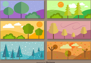 6 Seasonal banners - vector gratuit #199281