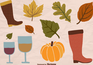 Autumn elements - Free vector #199361