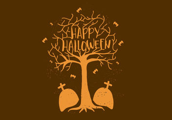 Free Vector Happy Halloween Wallpaper - бесплатный vector #199381