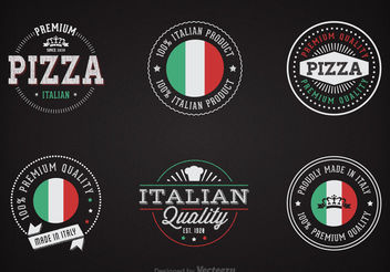 Free Chalk Italian Badges Vector - бесплатный vector #199421