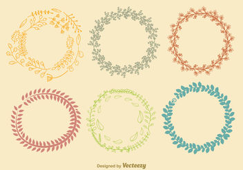 Autumn Color Wreath Vectors - Free vector #199431