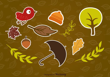 Autumn stickers - vector gratuit #199441