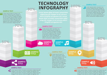 Tech Infography - vector gratuit #199501