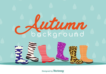 Autumnal footwear background - Free vector #199511