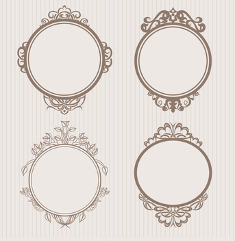 Frame ornamental badges - Free vector #199541