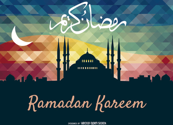 Ramadan Kareem Greeting card - Free vector #199551