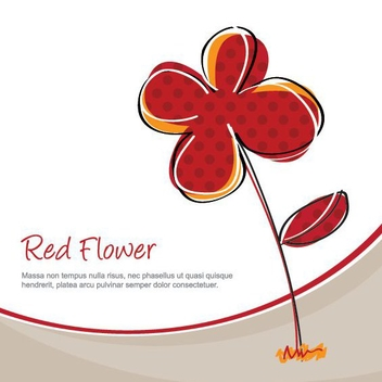 Red Flower Plant Funky Background - vector gratuit #199701