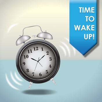 Wake Up Time Morning Background - Free vector #199771